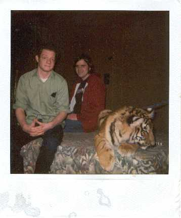 Tom and Jim and a tiger